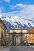 Triumph Arch in Innsbruck Austria - architecture background