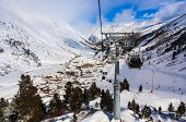 Mountain ski resort Obergurgl Austria - nature and sport background