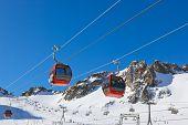 Mountains ski resort Innsbruck Austria - nature and sport background