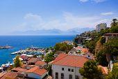 Old town Kaleici in Antalya, Turkey - travel background