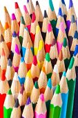 Multicolored pencils - abstract art background