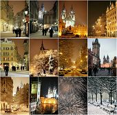 Winter Night In Prague