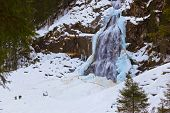 Waterfall Krimml at Tirol Austria - nature and travel background