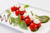 mozzarella with cherry tomato