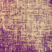 Old designed texture as abstract grunge background. With yellow, purple, violet patterns