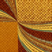 Old retro vintage texture. With yellow, brown, orange patterns