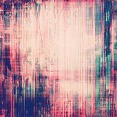 Old antique texture - perfect background with space for your text or image. With pink, purple, violet, blue patterns