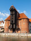 The medieval Crane in Gdansk marina