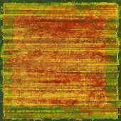 Old school textured background. Grunge background. With yellow, red, orange, green patterns