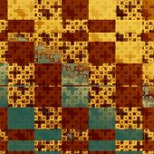 Grunge retro vintage texture, old background. With yellow, brown, orange, green patterns