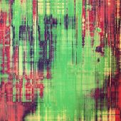 Grunge background with space for text or image. With red, violet, green patterns