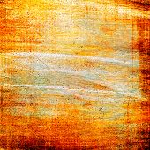 Art grunge vintage textured background. With yellow, red, orange patterns