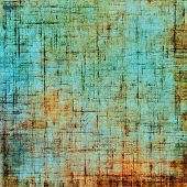 Old grunge antique texture. With orange, green, blue patterns