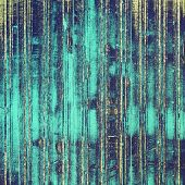 Retro background with grunge texture. With blue, yellow patterns