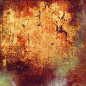 Grunge texture used as background. With yellow, brown, orange, gray patterns