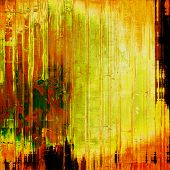 Old and weathered grunge texture. With yellow, brown, orange, green patterns