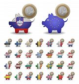 Set Save Euro Coins