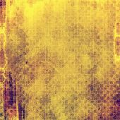 Textured old pattern as background. With yellow, brown, purple patterns