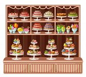 Store of sweets and bakery.