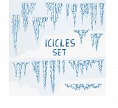 Icicles Ice Winter Set