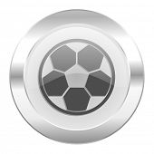 soccer chrome web icon isolated