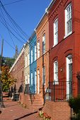 Washington DC - Historical Georgetown townhouses street