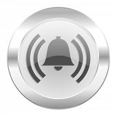 alarm chrome web icon isolated