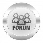 forum chrome web icon isolated