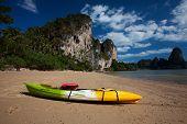 stock photo of kayak  - colorful kayak - JPG