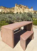 Picnic Table At Grosvenor Arch, Utah