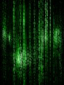 picture of encoding  - Digital abstract matrix background with the green symbols - JPG
