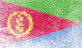 picture of eritrea  - Flag of Eritrea with old texture - JPG
