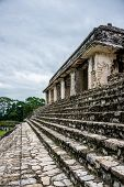 picture of mayan  - View of Historic Mayan Site. Traveling Through Chiapas Mexico.