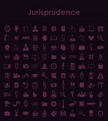 Set of jurisprudence simple icons