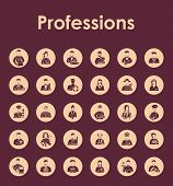 Set of professions simple icons