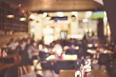 stock photo of restaurant  - Blur restaurant  - JPG