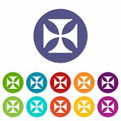image of crusader  - Crusaders web symbol icon in different colors - JPG