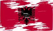 image of albania  - Flag of Albania with old texture - JPG