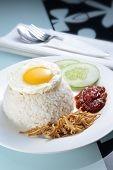 picture of nasi  - Tradition Nasi lemak with nice table setting - JPG