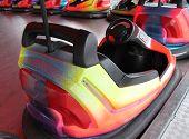 stock photo of car ride  - An Individual Dodgem Car on a Fun Fair Ride - JPG