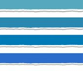 foto of cut torn paper  - Set of 4 blue Torn paper pieces banners - JPG