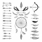 image of feathers  - Vector Tribal design elements - JPG