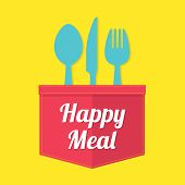 picture of knife  - Fork Knife Spoon On Yellow Background Vector Illustration - JPG