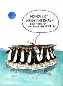 picture of gag  - Cartoon gag is about Xmas and penguins - JPG