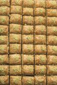 image of baklava  - Traditional turkish sweets with pistachio  - JPG