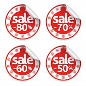 picture of 70-year-old  - Set New Year sale stickers vector  - JPG
