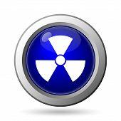 stock photo of nuke  - Radiation icon - JPG