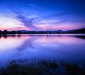 foto of crimea  - Beautiful spring night on the pond in Crimea