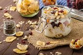 picture of dry fruit  - Homemade yogurt with granola dried fruit and nuts bio  - JPG