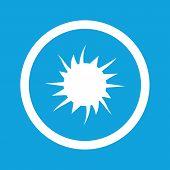 foto of starburst  - Image of starburst in circle - JPG